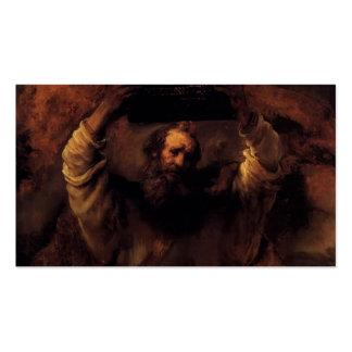 Rembrandt Moses que rompe las tabletas de la ley Plantilla De Tarjeta Personal