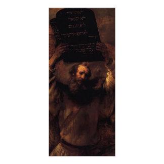 Rembrandt Moses que rompe las tabletas de la ley Plantilla De Lona
