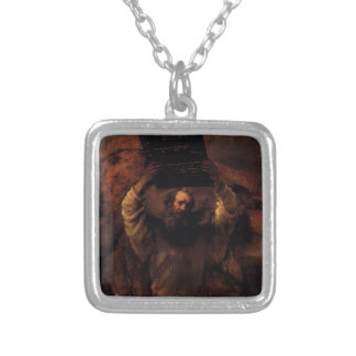 Rembrandt- Moses Smashing the Tablets of the Law Custom Necklace