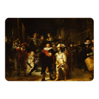 Rembrandt Nightwatch Night Watch Baroque Painting Card
