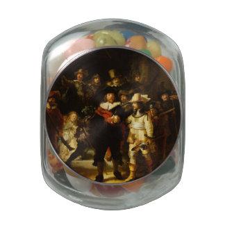 Rembrandt Nightwatch Night Watch Baroque Painting Glass Jars