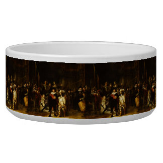 Rembrandt Nightwatch Night Watch Baroque Painting Pet Bowls