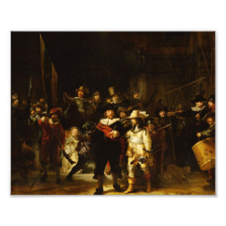 Rembrandt Nightwatch Night Watch Baroque Painting Photo Print