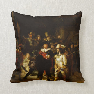 Rembrandt Nightwatch Night Watch Baroque Painting Pillows