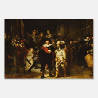 Rembrandt Nightwatch Night Watch Baroque Painting Sign