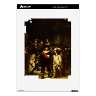 Rembrandt Nightwatch Night Watch Baroque Painting iPad 2 Decal