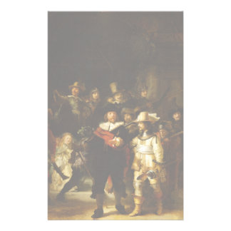 Rembrandt Nightwatch Night Watch Baroque Painting Stationery