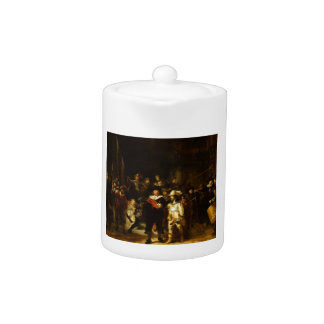 Rembrandt Nightwatch Night Watch Baroque Painting Teapot