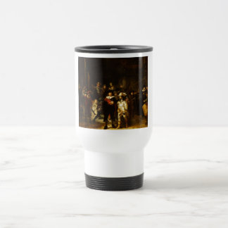 Rembrandt Nightwatch Night Watch Baroque Painting Travel Mug