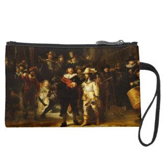 Rembrandt Nightwatch Night Watch Baroque Painting Wristlet Purses