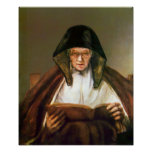 Rembrandt - Old woman reading Posters