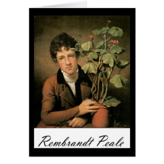 Rembrandt Peale Rubens Peale with a Geranium Card