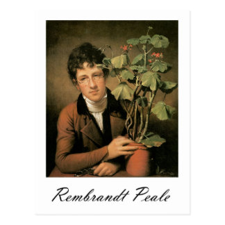 Rembrandt Peale Rubens Peale with a Geranium Postcard