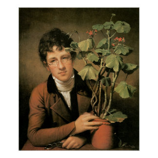 Rembrandt Peale Rubens Peale with a Geranium Poster