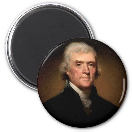 Rembrandt_Peale-Thomas_Jefferson 1 2 Inch Round Magnet