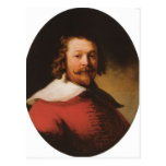 Rembrandt- Portrait of a bearded man, bust length Postcard