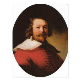 Rembrandt- Portrait of a bearded man, bust length Postcard