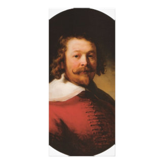 Rembrandt- Portrait of a bearded man, bust length Personalized Rack Card