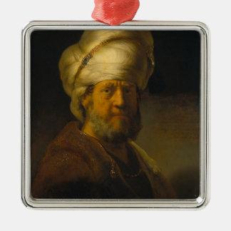 Rembrandt- Portrait of a Man in Oriental Garment Ornament