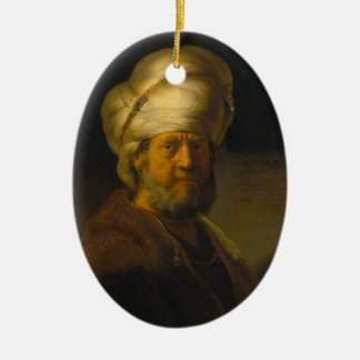 Rembrandt- Portrait of a Man in Oriental Garment Ornaments