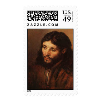 rembrandt-portrait-of-christs-head-1650 postage stamps