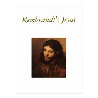 rembrandt-portrait-of-christs-head-1650, Rembra... Postcard