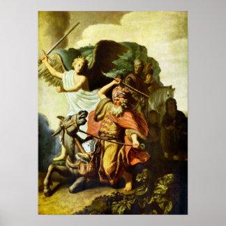Rembrandt - profeta Balaam y el burro Impresiones