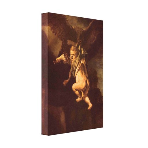 Rembrandt - Robbery of Ganymede Canvas Print