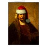 Rembrandt Santa Note Card