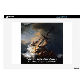 """Rembrandt Sea Of Galilee & Nature Quote 15"""" Laptop Decals"""