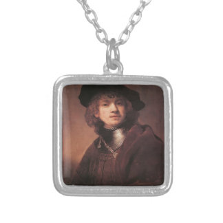 Rembrandt: Self-portrait as a Young Man Custom Necklace