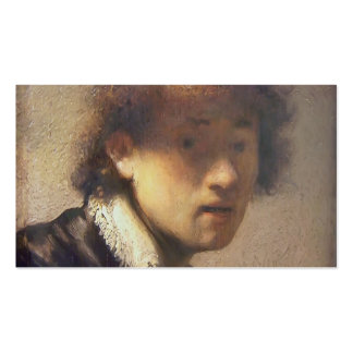Rembrandt- Self-portrait at an early age Business Card Templates