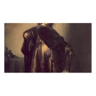 Rembrandt- Self-portrait in oriental attire,poodle Business Cards