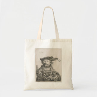 Rembrandt Self-portrait in velvet cap and plume Tote Bag