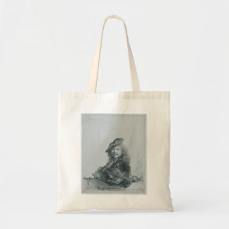 Rembrandt: Self-portrait leaning on a stone sill Tote Bags