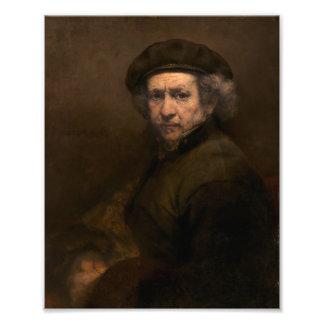 Rembrandt Self Portrait Vintage Fine Art Painting Photo Print
