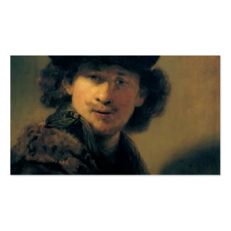 Rembrandt- Self-portrait with beret Business Cards