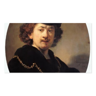 Rembrandt- Self-portrait with Hat and Gold Chain Business Card Templates