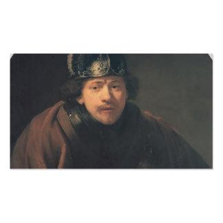 Rembrandt- Self-portrait with Helmet Business Card Templates