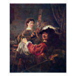 Rembrandt - Self-Portrait with Saskia Poster