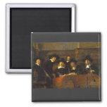 ¡Rembrandt, síndicos del Clothmakers, con Oboes! Imán Cuadrado