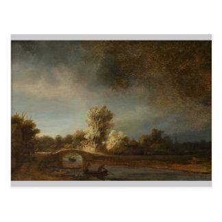 Rembrandt Stone bridge Postcard