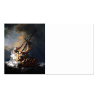 Rembrandt Storm on  Galilee Double-Sided Standard Business Cards (Pack Of 100)