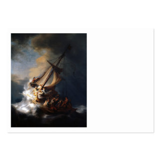 Rembrandt Storm on  Galilee Large Business Card