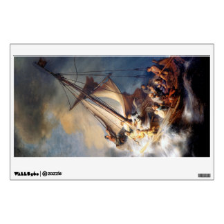 Rembrandt Storm on Lake of Galilee Wall Decal