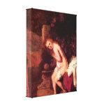 Rembrandt - Susana en bañeras Impresion De Lienzo