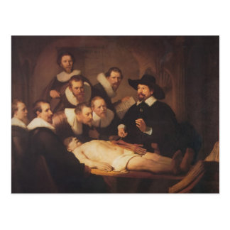 Rembrandt- The Anatomy Lesson of Dr. Nicolaes Tulp Postcard