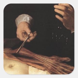 Rembrandt- The Anatomy Lesson of Dr. Nicolaes Tulp Square Sticker