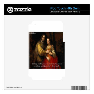 """Rembrandt """"The Jewish Bride"""" & Famous Quote Skins For iPod Touch 4G"""