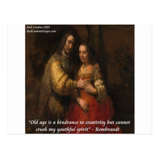 """Rembrandt """"The Jewish Bride"""" & Old Age Quote Post Cards"""